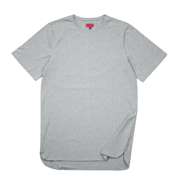 Half Scoop Hem SS Essential - Heather Grey (04.14.20 Release)