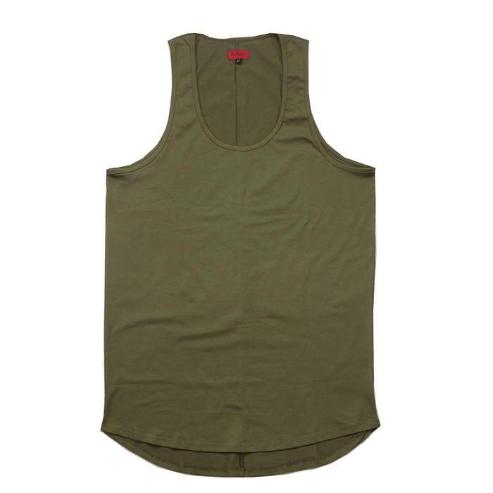 SI Scalloped Tank Top - Olive (05.04.21 Release)