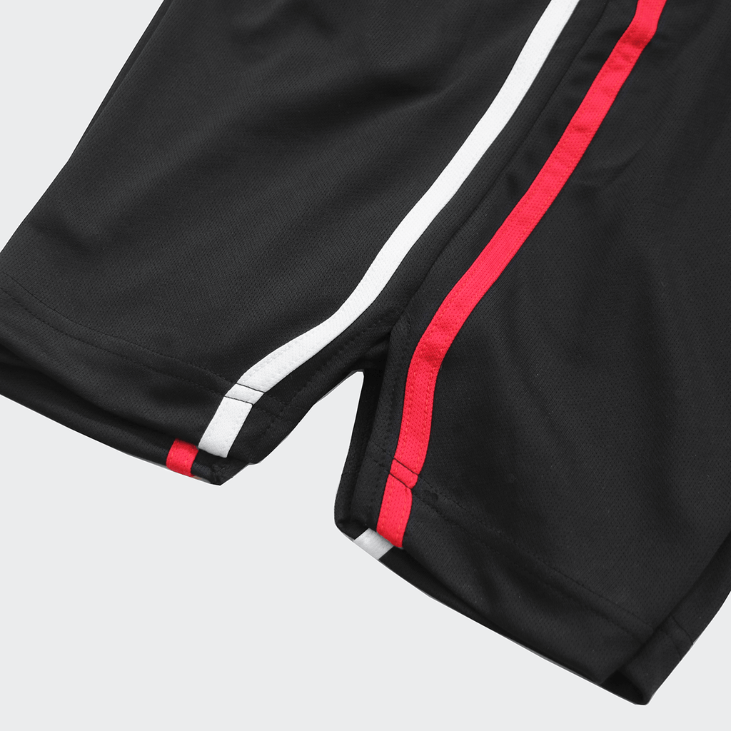 Split Stripe Basketball Shorts - Black