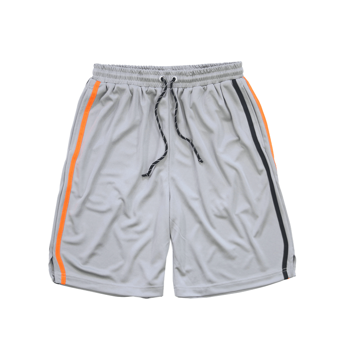 Split Stripe Basketball Shorts - Grey