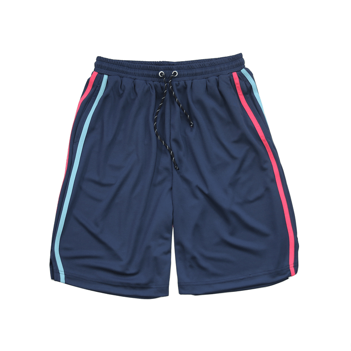 Split Stripe Basketball Shorts - Navy