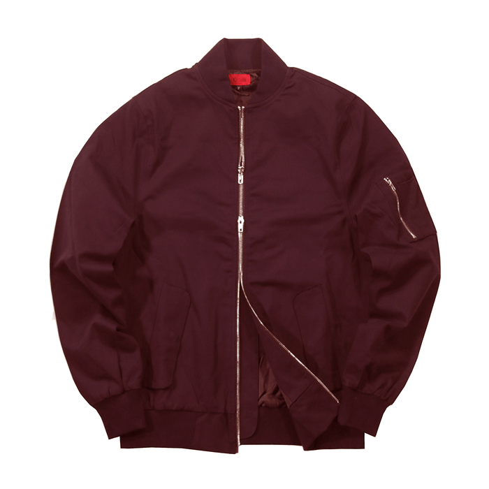 Lightweight MA-1 Bomber Jacket - Wine