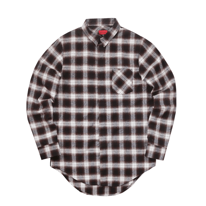 Huxley Shadow Flannel LS Buttonup - Brown/Cream