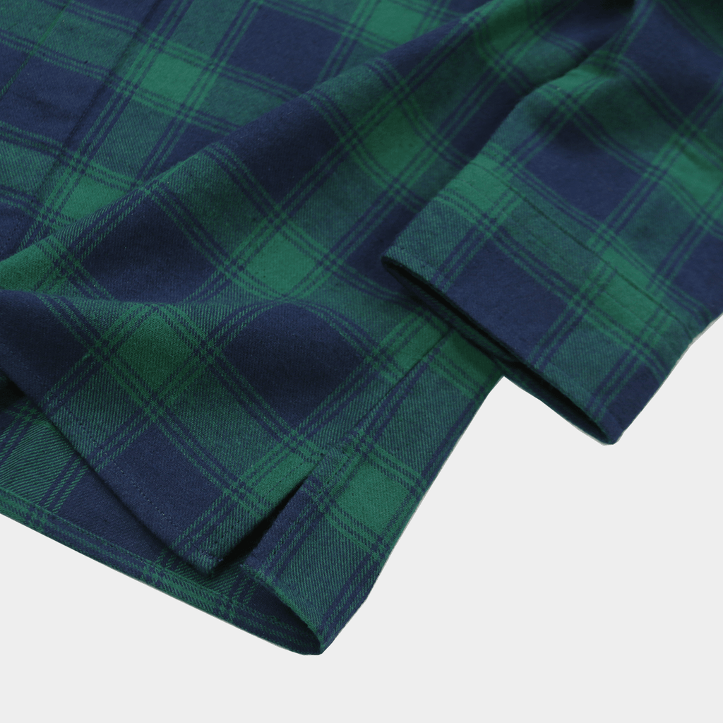 SI Flannel Flat-Hem Buttonup - Green/Navy