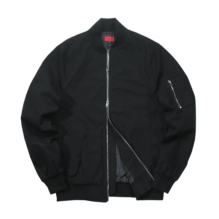 Lightweight MA-1 Bomber Jacket - Black