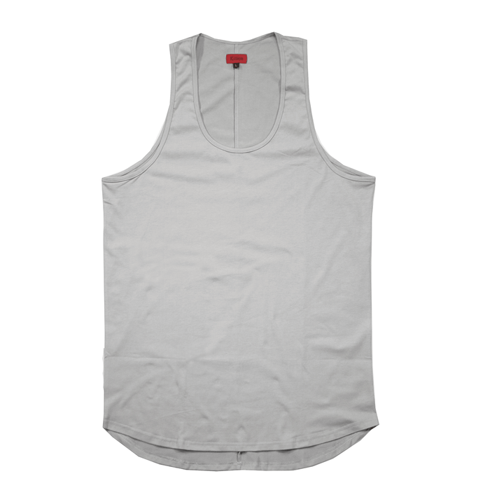 SI Scalloped Tank Top - Cement
