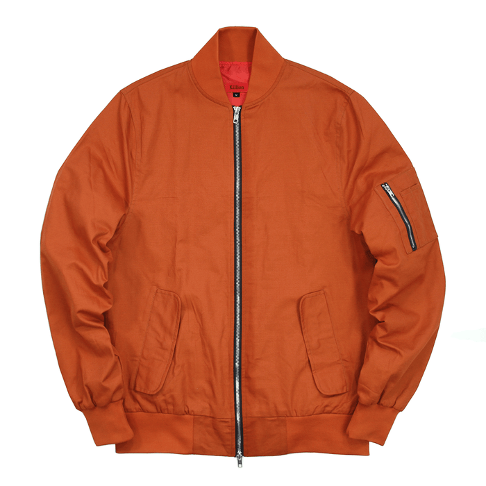Lightweight MA-1 Bomber Jacket - Rust