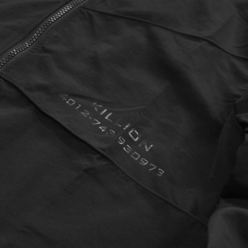 Piped Light Windbreaker - Black