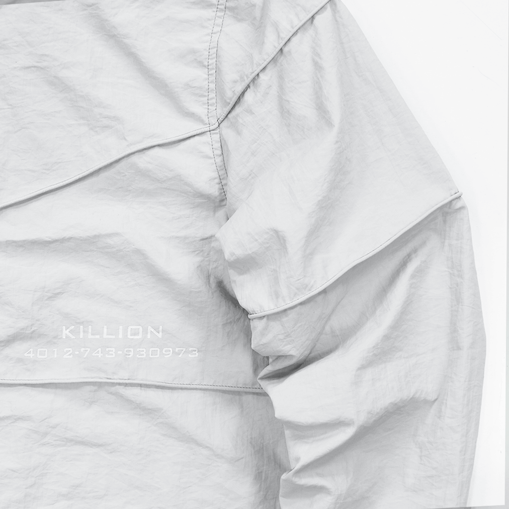 Piped Light Windbreaker - Light Grey