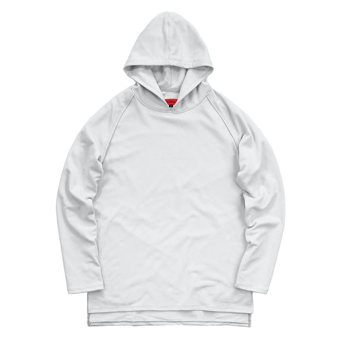 Piped Raglan Hoodie - Light Grey