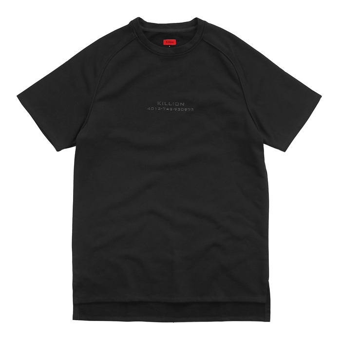 Piped Raglan Boxy Tee - Black