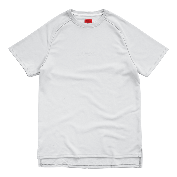 Piped Raglan Boxy Tee - Light Grey