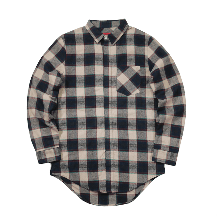Bristol Flannel LS Buttonup - Cream/Navy