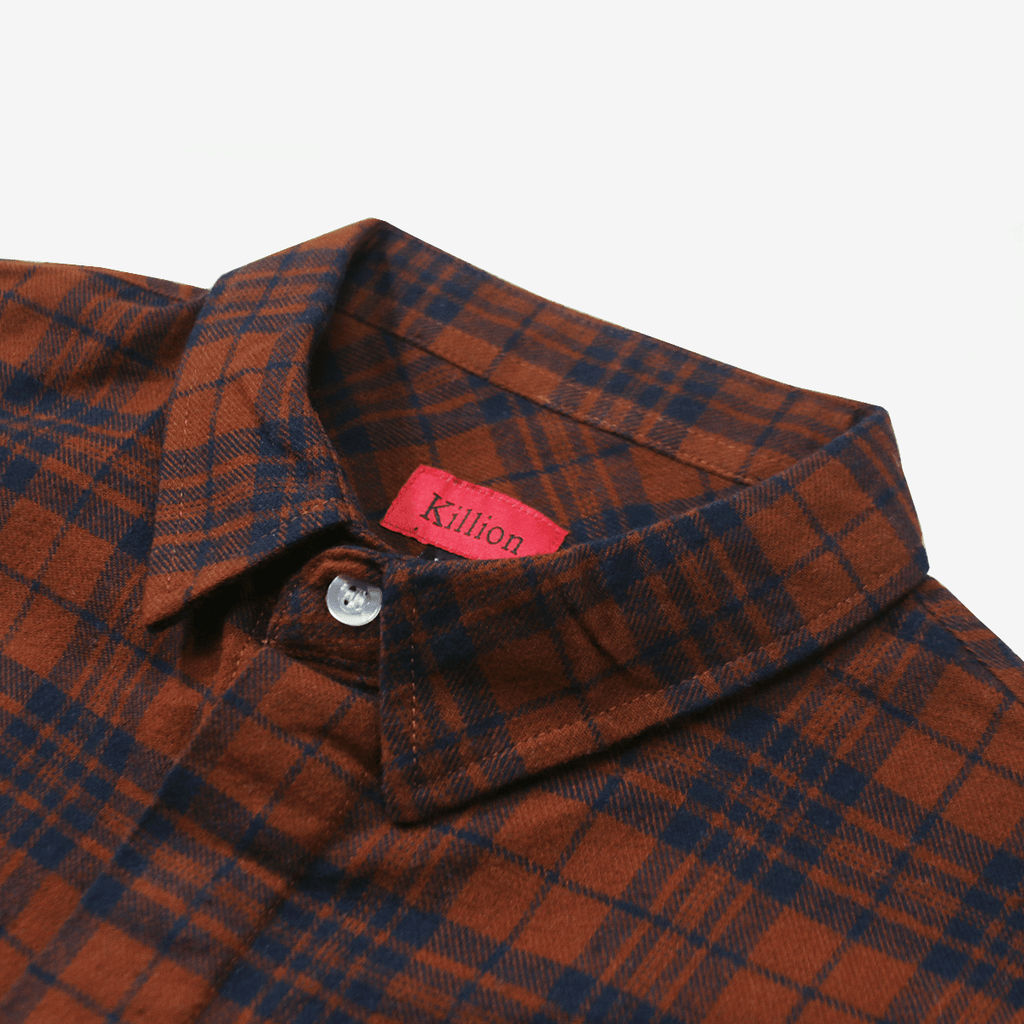 Goodwin Flannel LS Buttonup - Brick/Navy