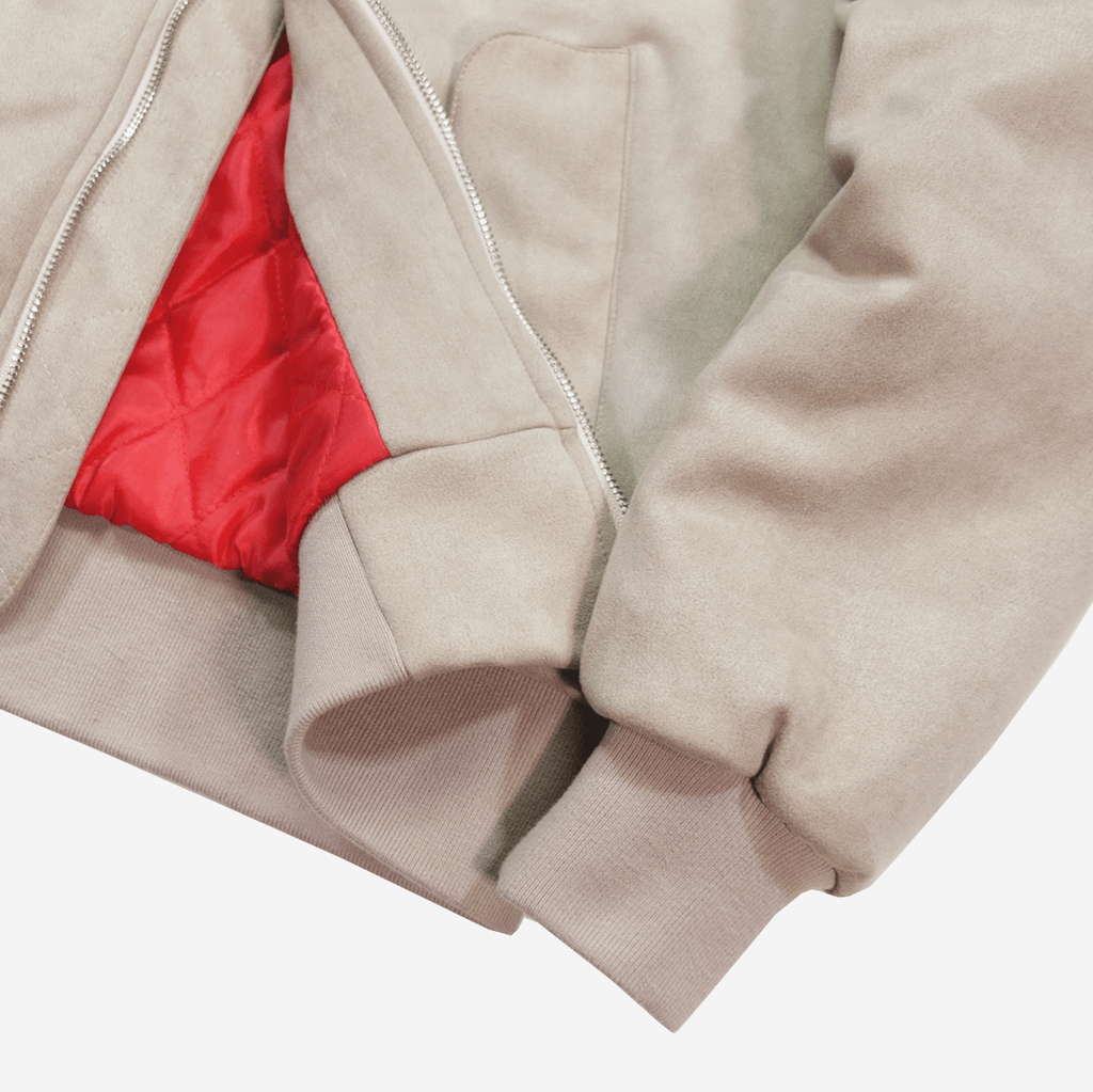 Suede MA-1 Bomber Jacket - Sand (01.07.21 Release)