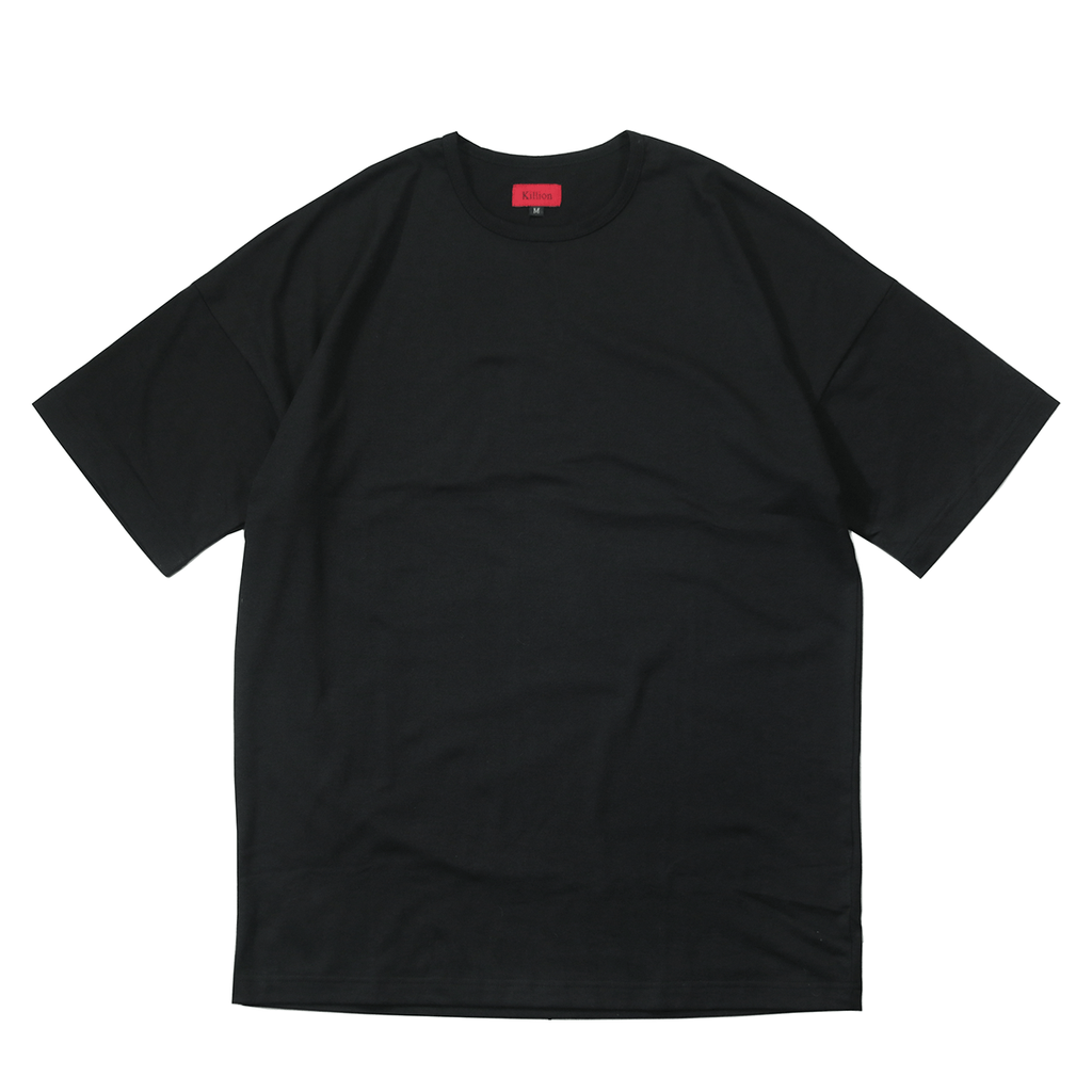 Essential Dropped Shoulder Box Tee - Black
