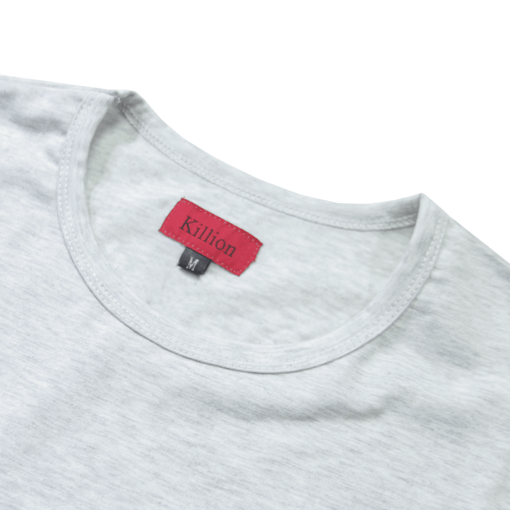 Essential Dropped Shoulder Box Tee - Light Heather Grey