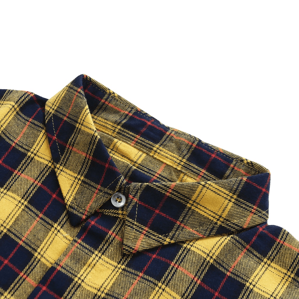 Gardena Flannel LS Buttonup - Navy/Yellow
