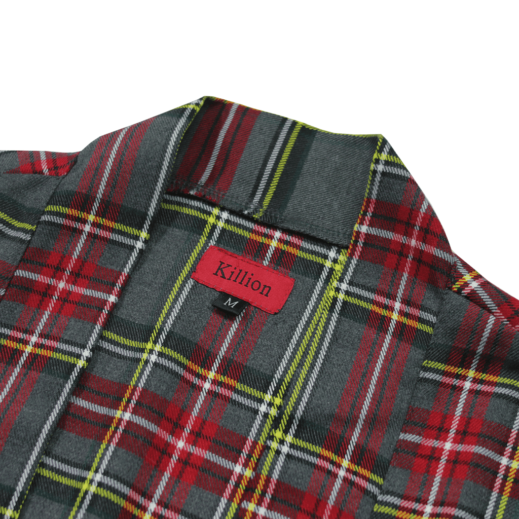 Modern Kimono Flannel - Grey/Red/Yellow