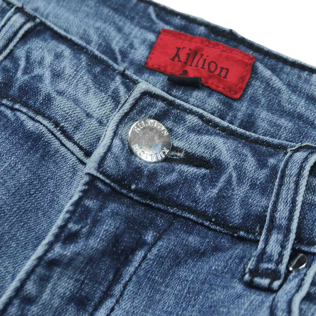 Destroyed Knee Rip Denim Jeans - Medium Blue (01.21.21 Release)