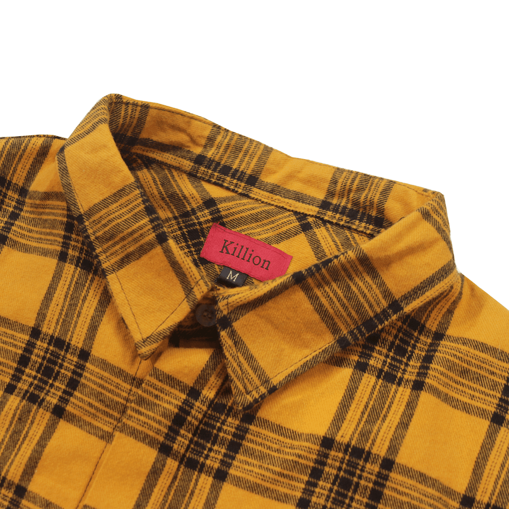 Harbor Flannel LS Buttonup - Golden Yellow/Black (06.16.20 Release)
