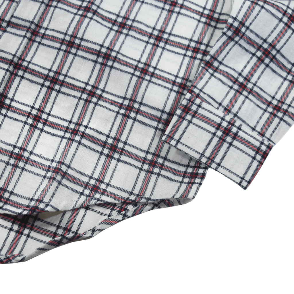 Miraleste Flannel LS Buttonup - Natural/Red/Black