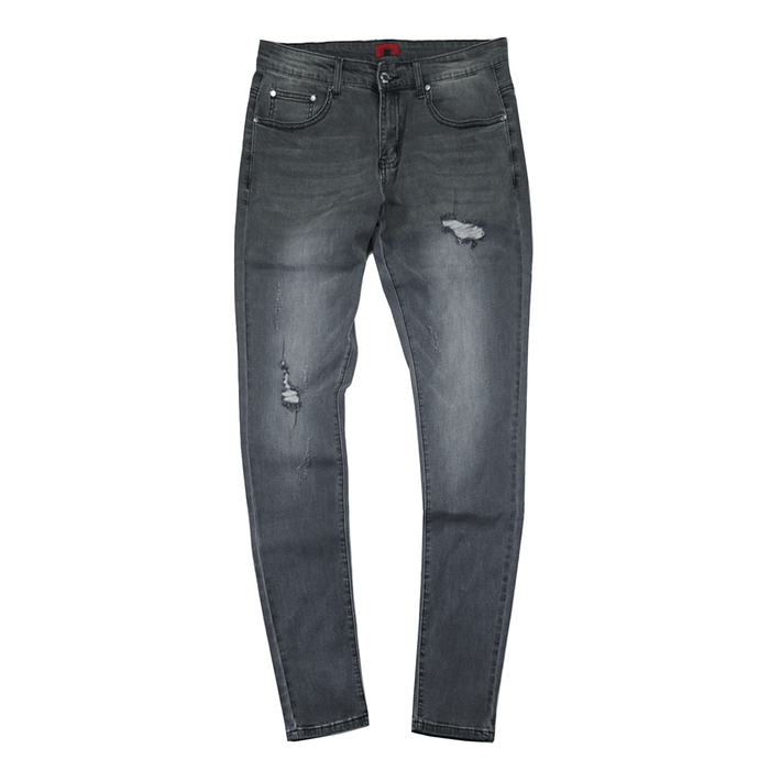 Stonewashed Distressed Gray Denim Jeans (06.30.20 Release)