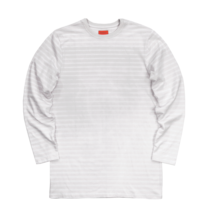Standard Striped L/S Essential - Grey/White