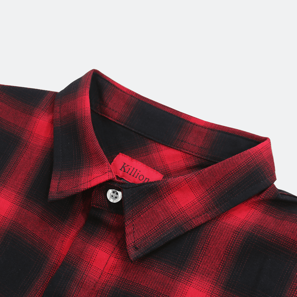 Shadow Flannel LS Buttonup - Black/Red