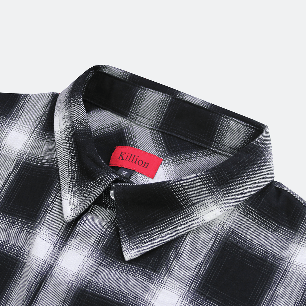 Shadow Flannel LS Buttonup - Black/White