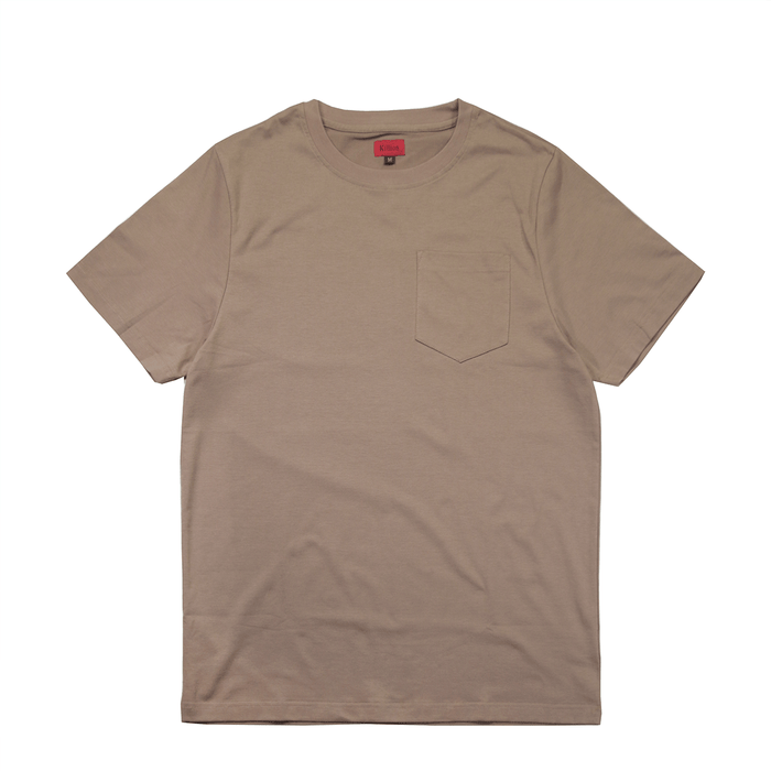 Boxy Fit Pocket Tee Essential -Dark Sand (Oct Release 01)