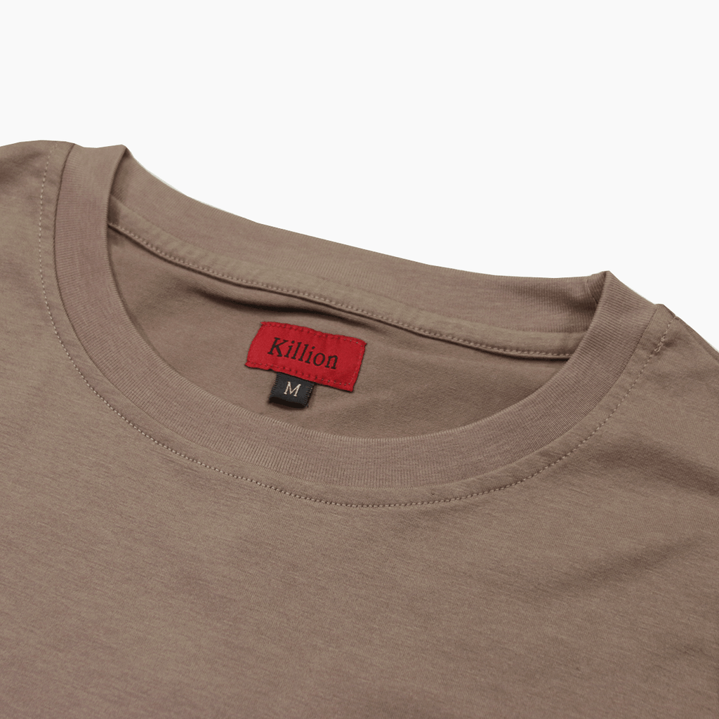 Boxy Fit Pocket Tee Essential -Dark Sand