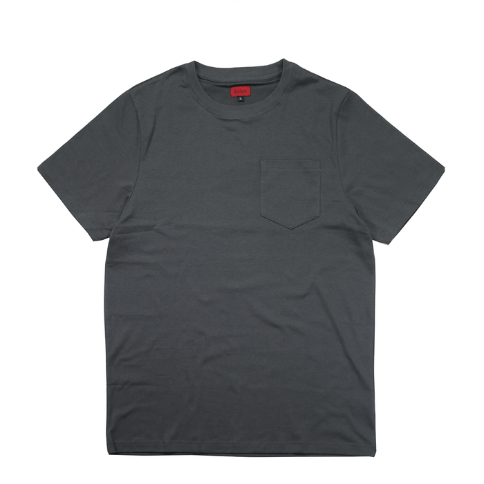 Boxy Fit Pocket Tee Essential -Slate