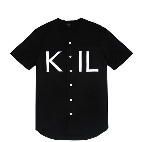 KIL Wool Baseball Top - Black