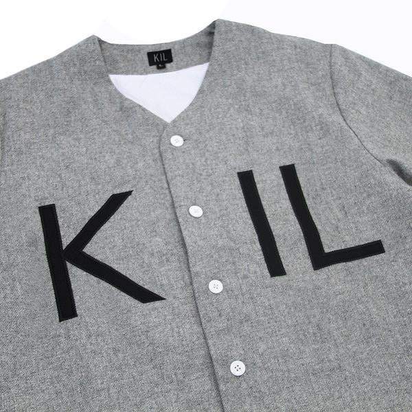KIL Wool Baseball Top - Grey