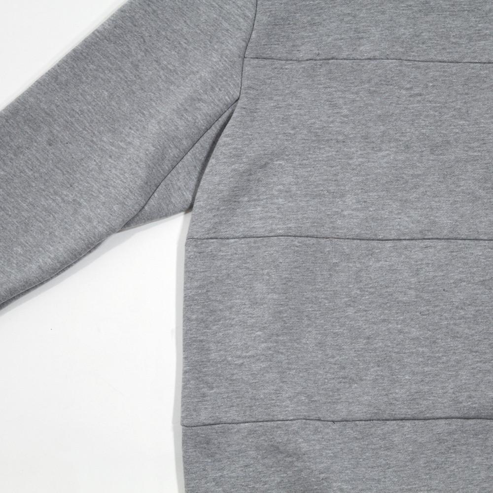 Paneled Crewneck - Heather Grey
