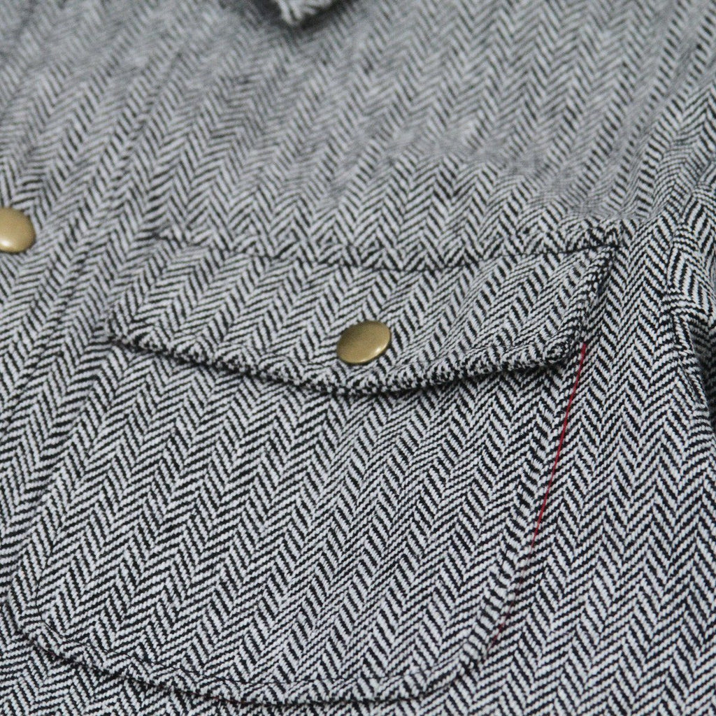 Herringbone Multi-Pocketed Coach Jacket