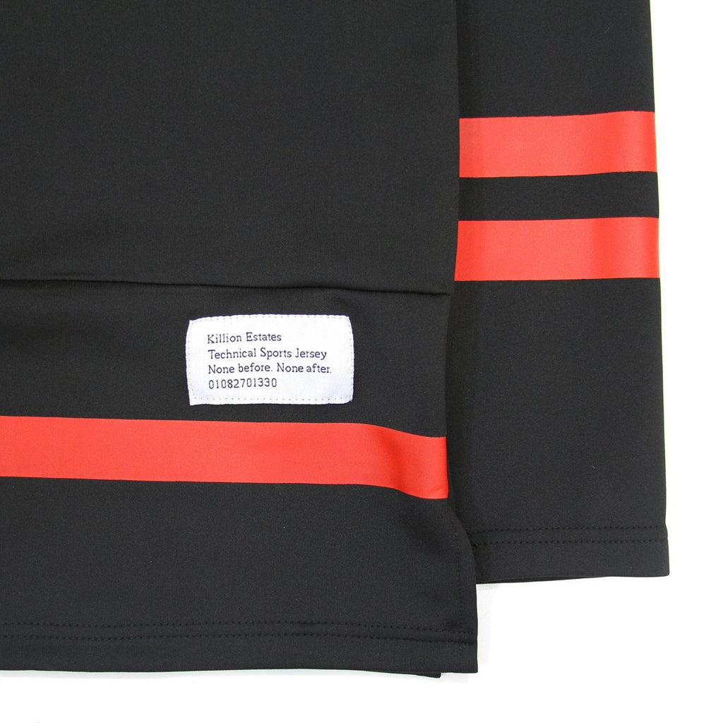 Paneled Hockey Top - Black/Red