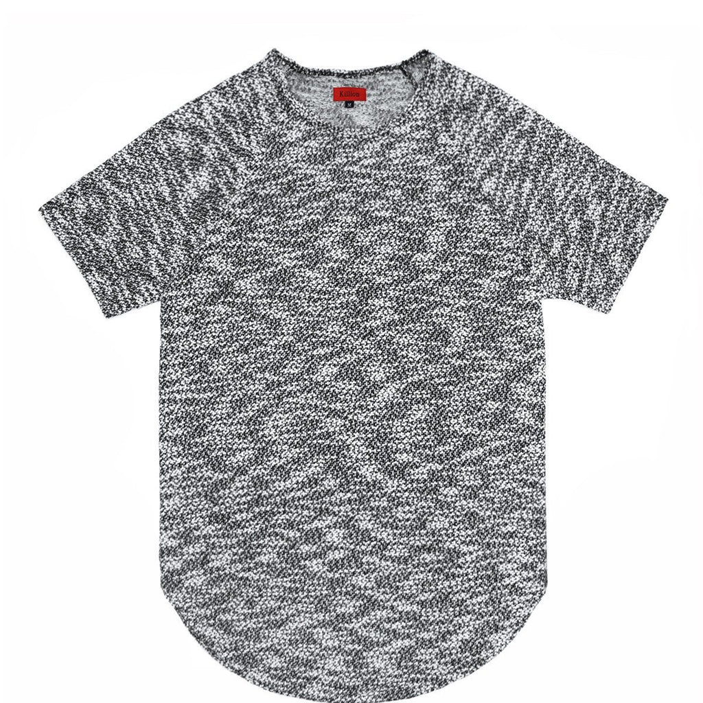 Jacquard Knit Scoop Extended Shirt - Light