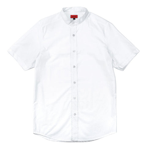 Base Mandarin SS Buttonup - White