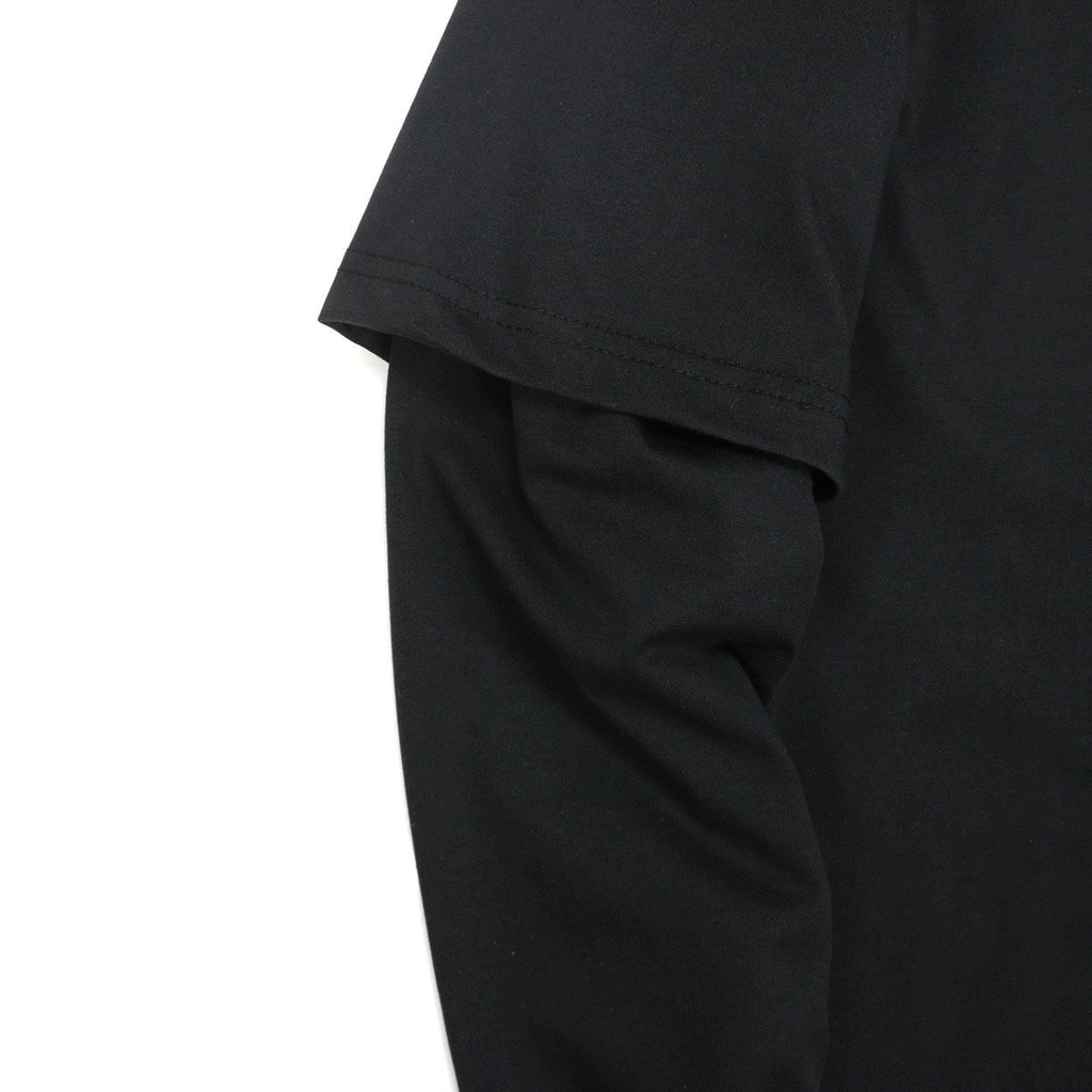 Boylston Long Sleeve Henley - Black