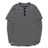 Boylston Long Sleeve Henley - Striped