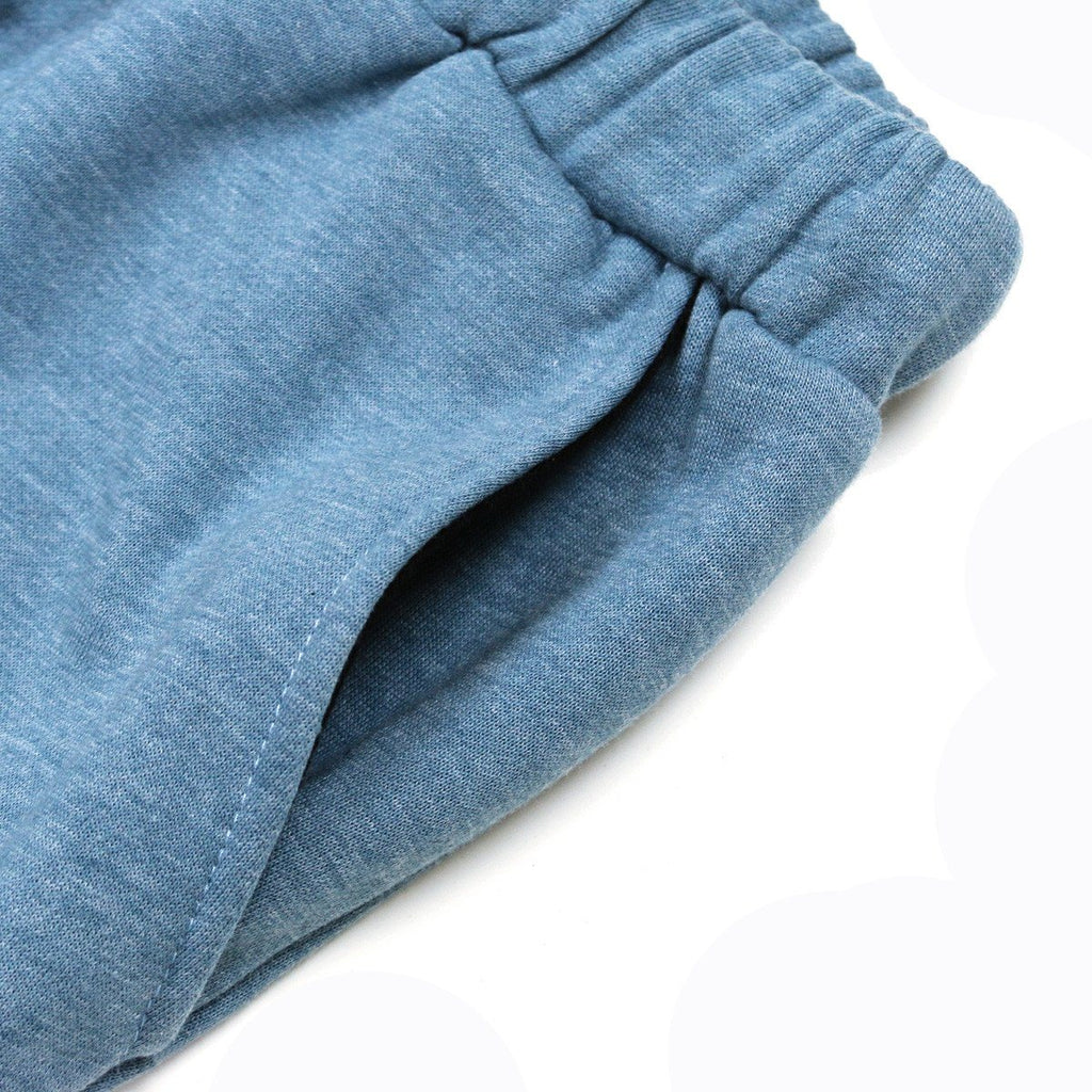 Pastel Fleece Shorts - Blue
