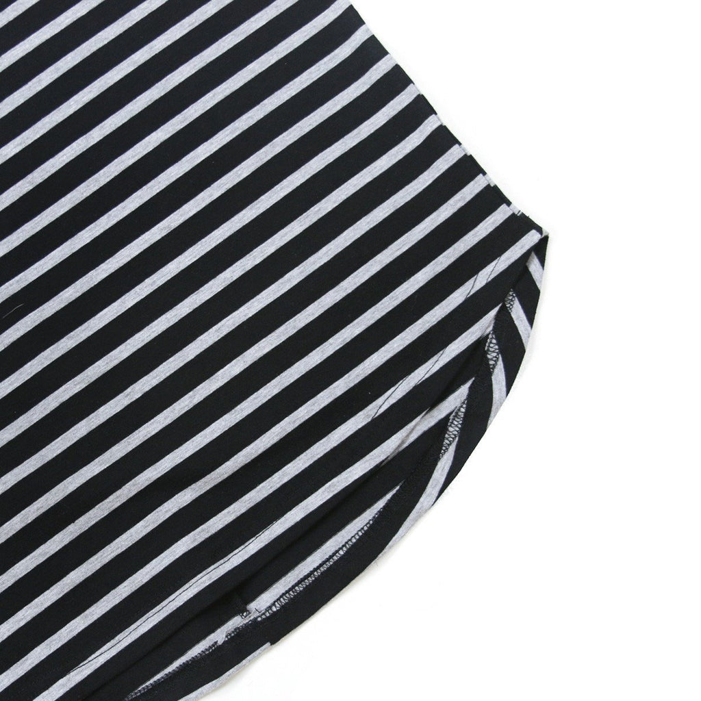 Mulberry Striped Scalloped Shirt - Black/Grey