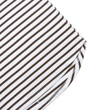 Mulberry Striped Scalloped Shirt - White/Brown