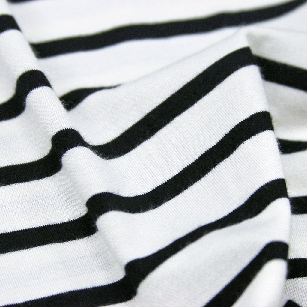 Striped Spandex Cotton Tank - White/Black