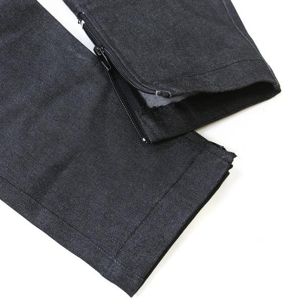 Standard Issue Black Stretch Denim Trackers