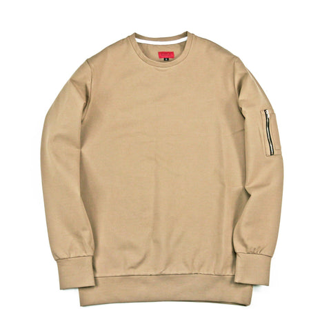 Norfolk Tech MA-1 Crewneck - Sand