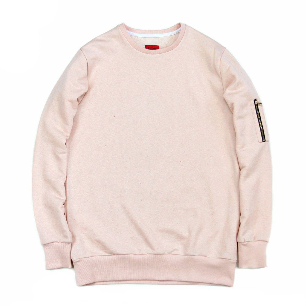Suffolk Terry MA-1 Crewneck - Peach