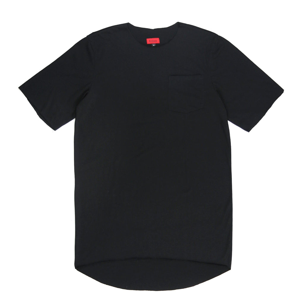 Raw Edges Cotton Pocket Shirt - Black